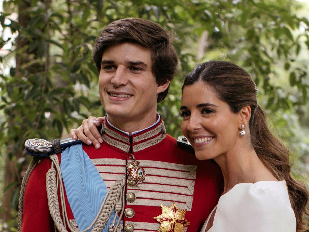 Foto: Carlos Fitz-James Stuart y Belén Corsini en su boda. (EFE)