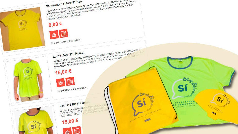 El lote que la ANC vende para la Diada por 15 euros.