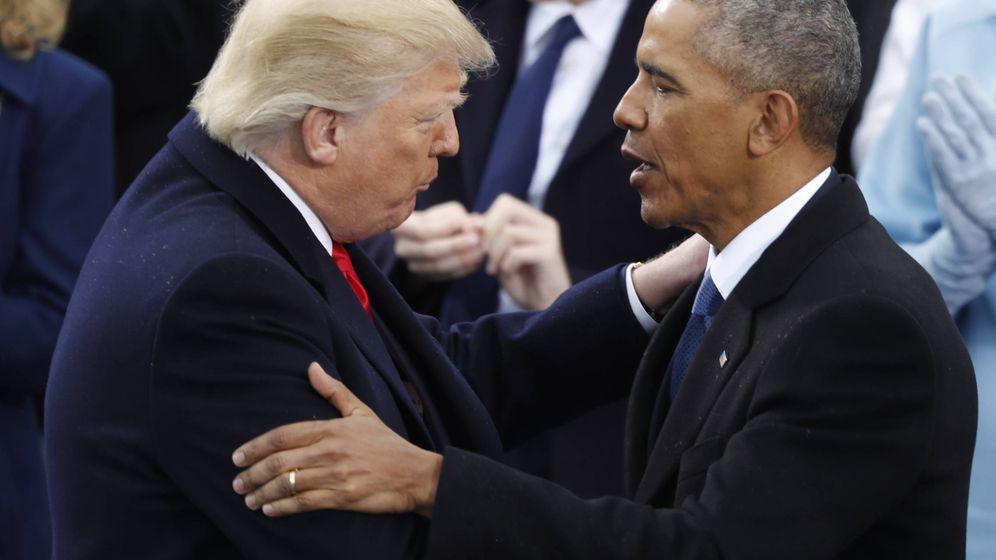 Foto: Donald Trump y Barack Obama en Washington durante la toma de posesión del primero el 20 de enero de 2017. (Reuters)