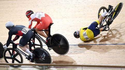 Caida en el Campeonato Mundial de Ciclismo en pista
