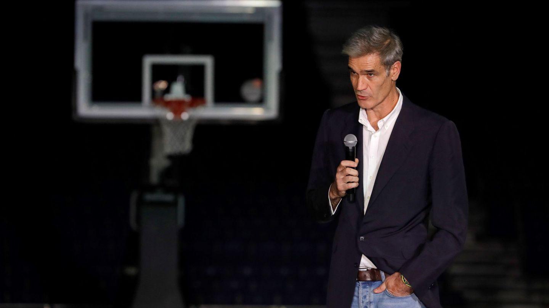 Antonio Martín, presidente de la ACB, durante la gala de presentación de pretemporada celebrada este viernes en Madrid. (EFE)