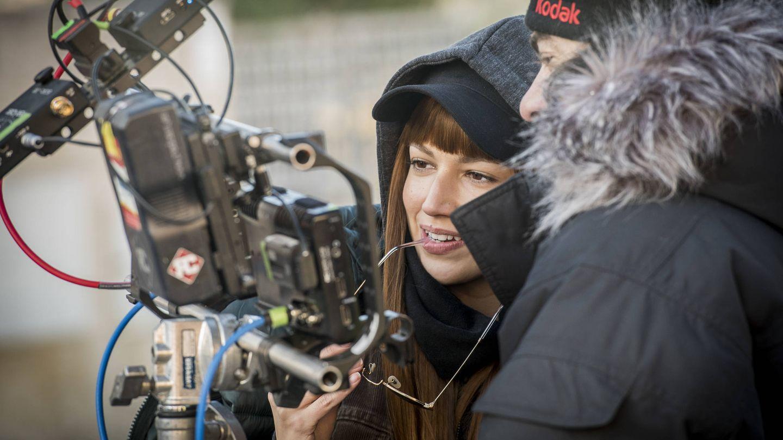 Úrsula Corberó en el rodaje de 'La casa de papel'.