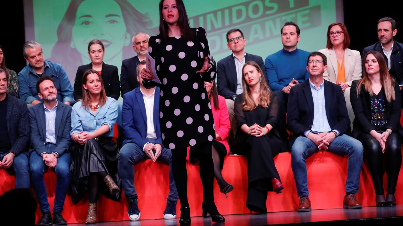 Arrimadas, durante la presentación oficial de su candidatura. (EFE)