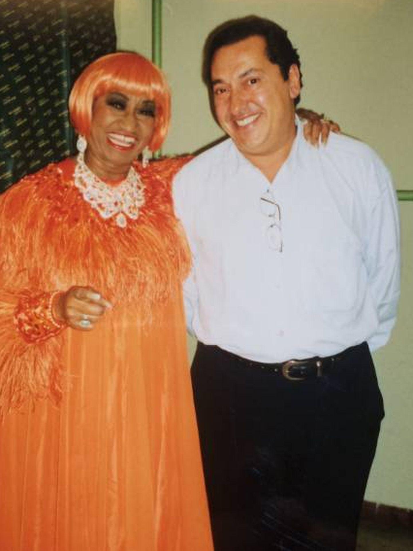Con Celia Cruz. (Cortesía)
