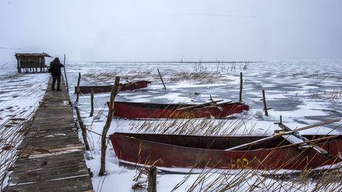 Lago congelado en Macedonia