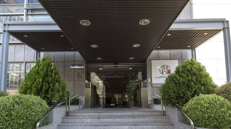 Entrada a la sede de la SEPI.