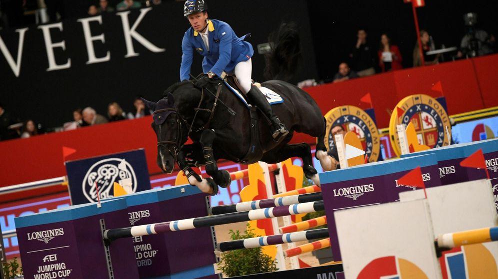 Foto: Prueba de salto en la Madrid Horse Week celebrada la semana pasada en Ifema. (EFE)