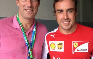 Alonso se 'cuadró' ante Laudrup y los futbolistas pidieron autógrafos
