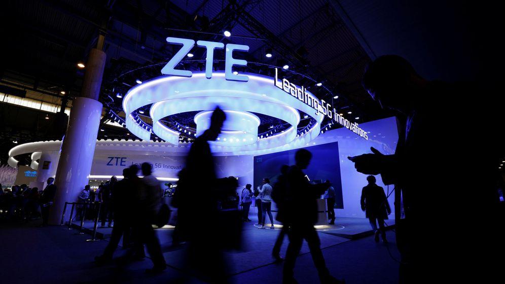Foto: Puesto de ZTE en el Mobile World Congress de Barcelona. (Reuters)