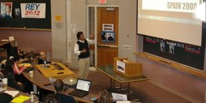 Jorge Moragas pronuncia un discurso en la prestigiosa Universidad de Harvard