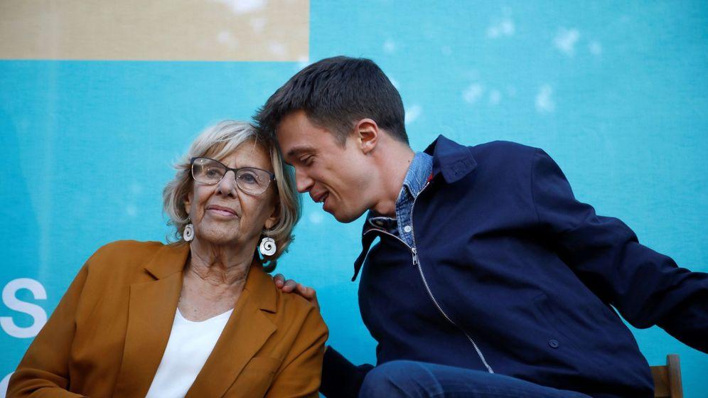 Foto: Manuela Carmena e Íñigo Errejón, durante el acto de cierre de la campaña de Más Madrid para las elecciones municipales y autonómicas. (EFE)
