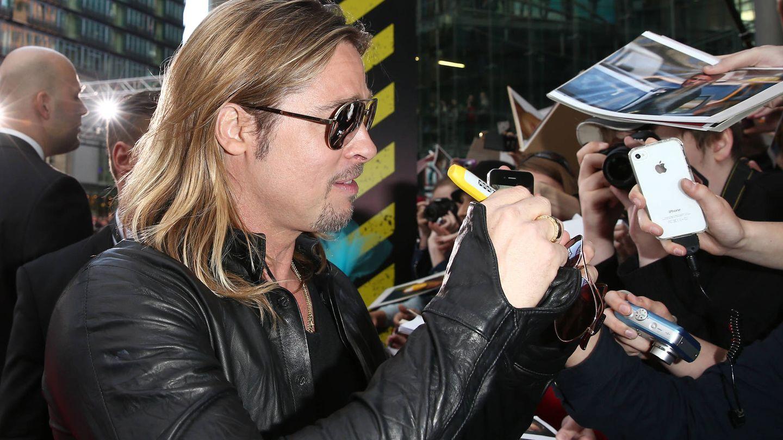 Brad Pitt durante la promoción de 'Guerra Mundial Z'. (Getty)