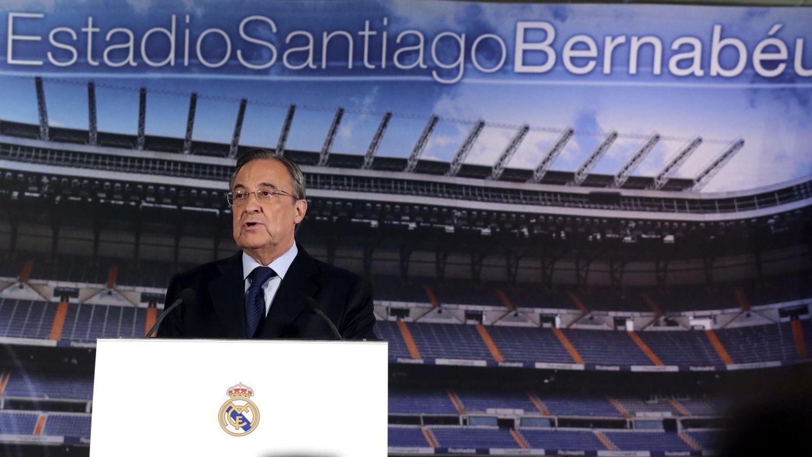 Foto: Florentino Pérez no escatimó esfuerzos para invitar a unos y otros a presenciar la final de Lisboa hace dos años. (EFE)