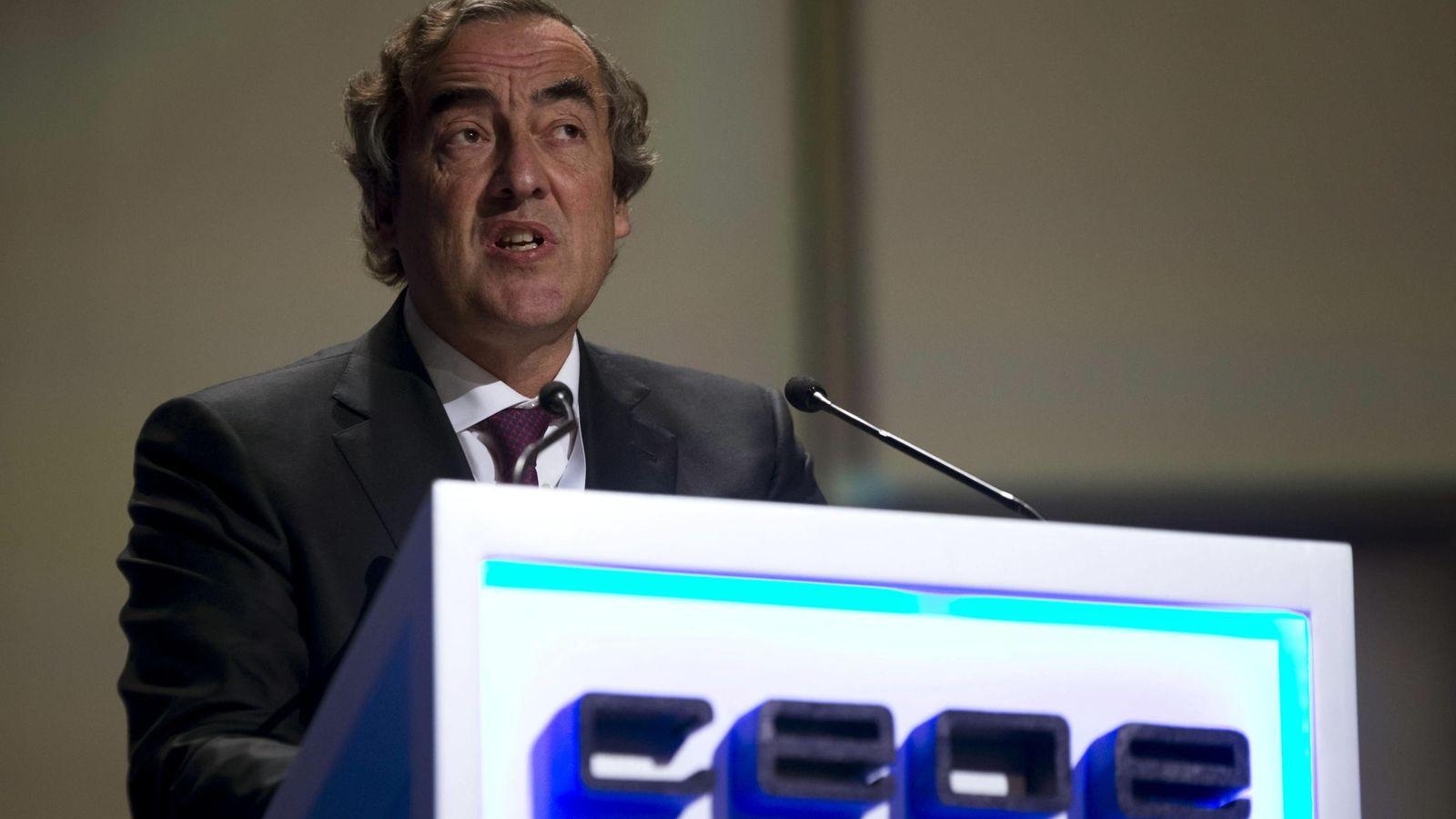 Foto: El presidente de CEOE, Juan Rosell. (EFE)
