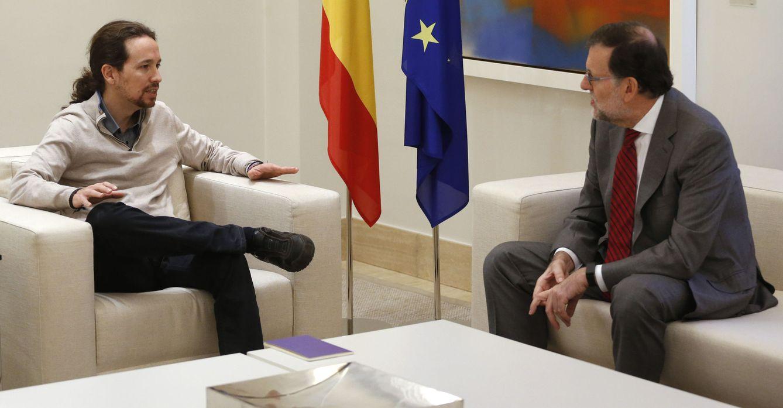 Mariano Rajoy y Pablo Iglesias en la reunión mantenida este lunes. (Efe)