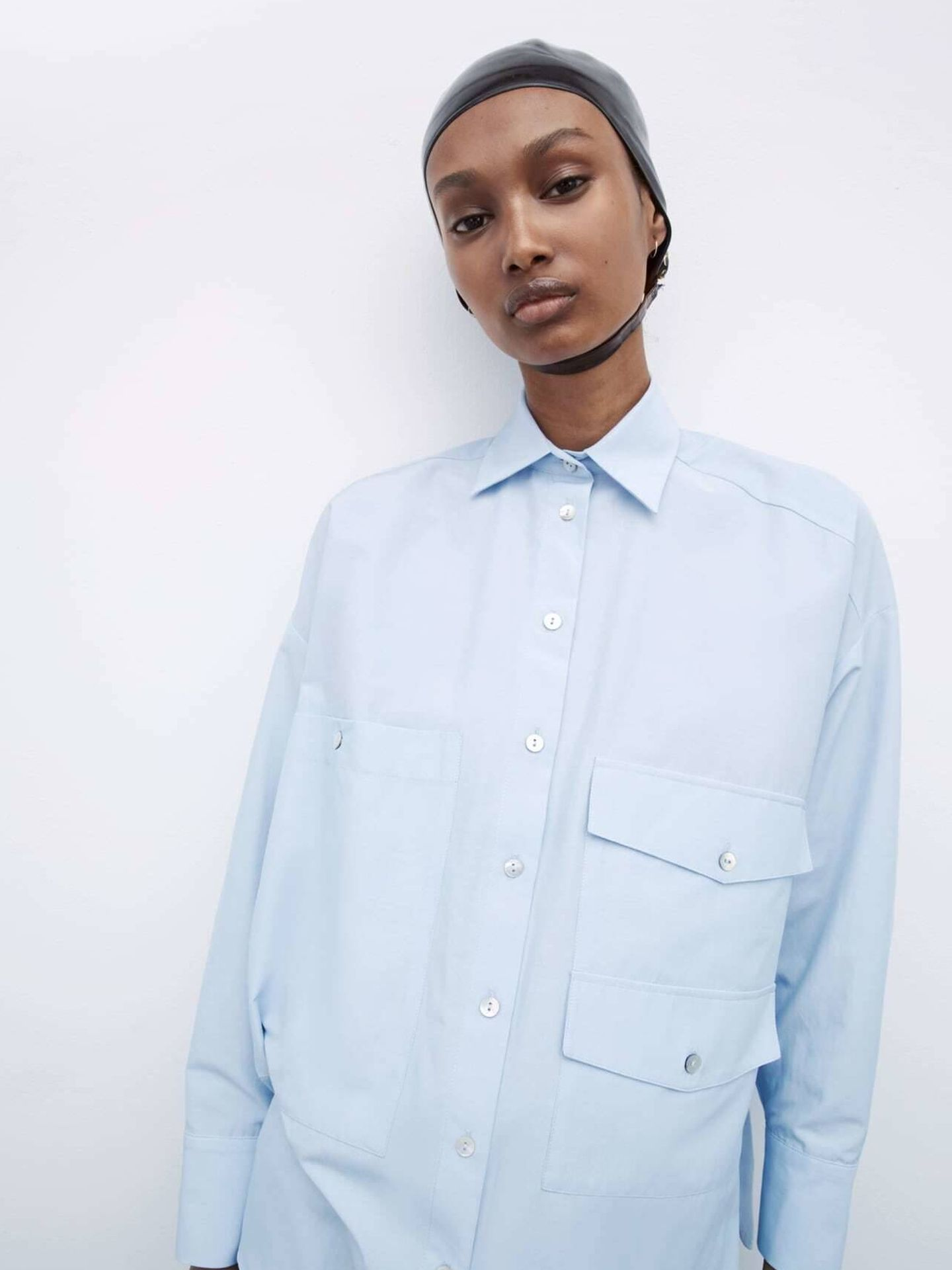 La camisa de Zara que tiene Rocío Osorno. (Cortesía)