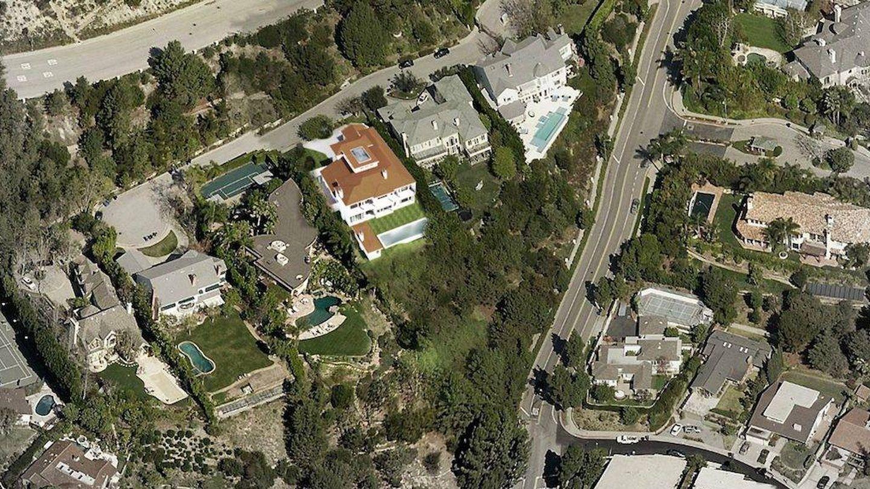 Vista aérea de la mansión. (Palisades Funding)
