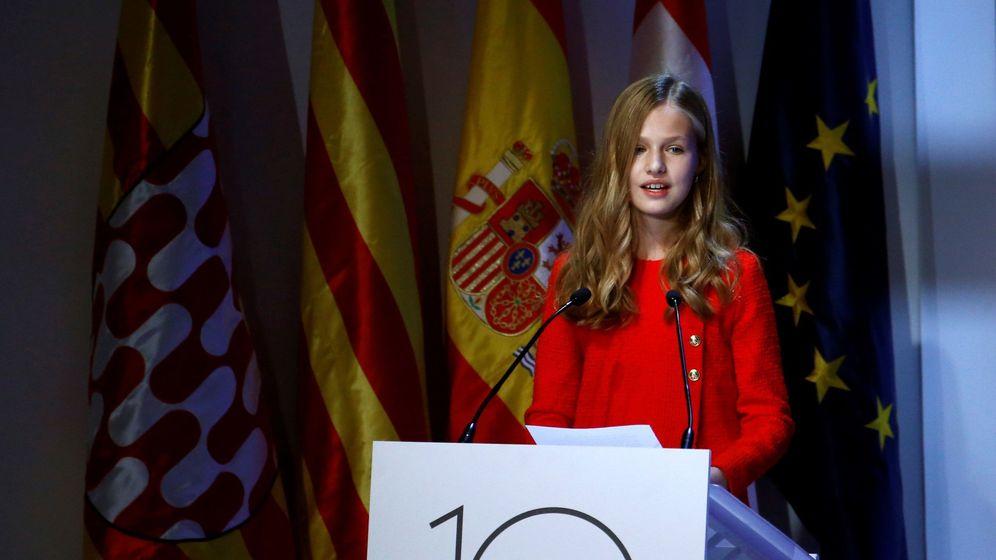 Foto: La princesa Leonor en el acto de entrega de los Princesa de Girona. (EFE)
