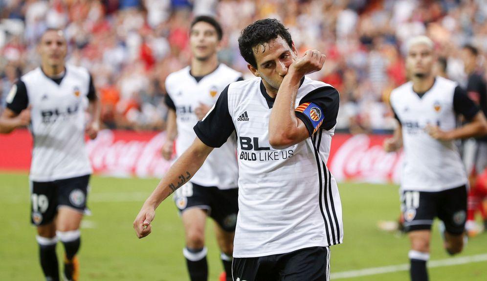 Foto: Dani Parejo celebra un gol marcado esta temporada. (EFE)