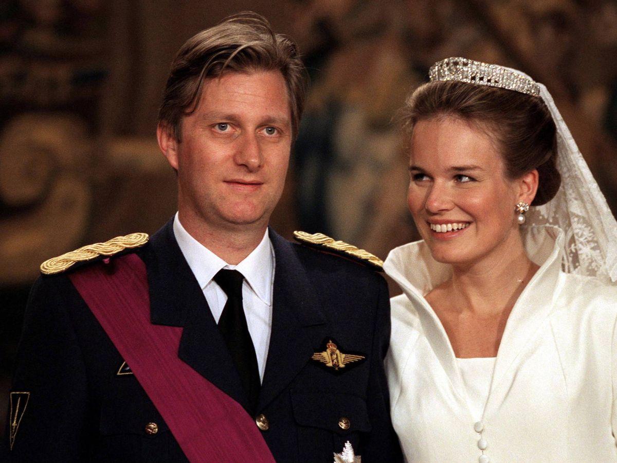 Foto: Felipe y Matilde, el día de su boda. (Getty)