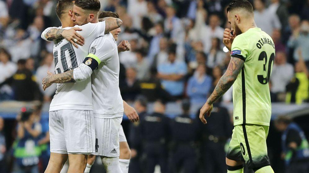 Foto: El Madrid celebra su victoria contra el City. (EFE)