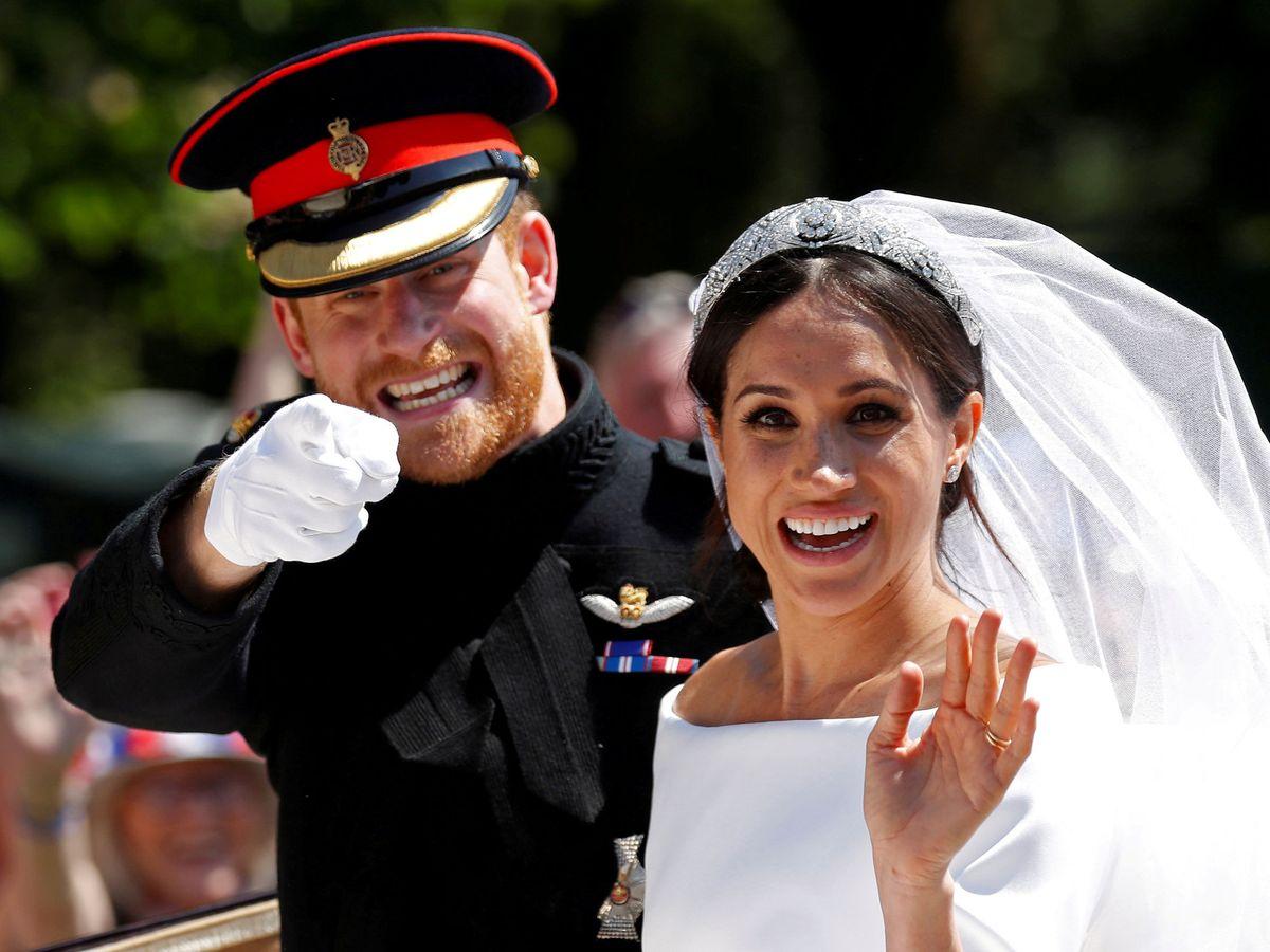 Foto: El príncipe Harry y Meghan Markle el día de su boda. (Reuters)