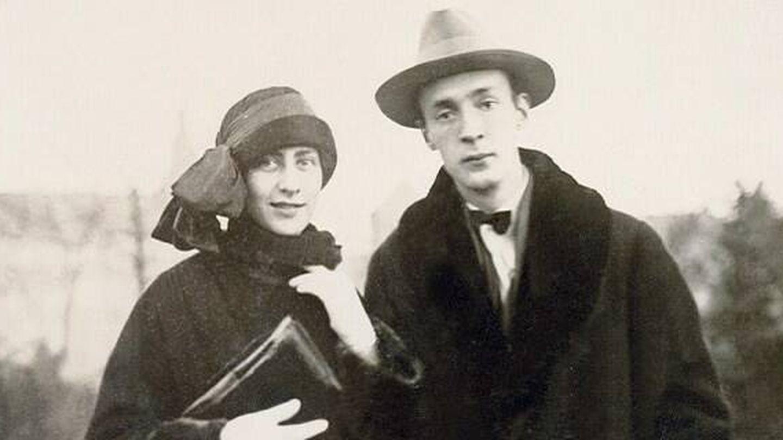 Vladimir Nobokov y su esposa Vera