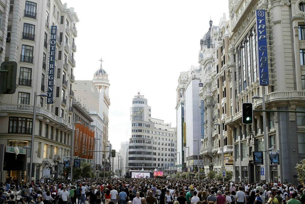 Foto: Vista de la Gran Vía madrileña en una fotografía de archivo. (EFE)