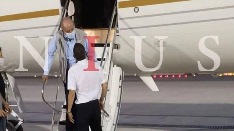 Foto: Juan Carlos I, a su llegada el lunes 3 de agosto a Abu Dabi, según publica 'Nius'.