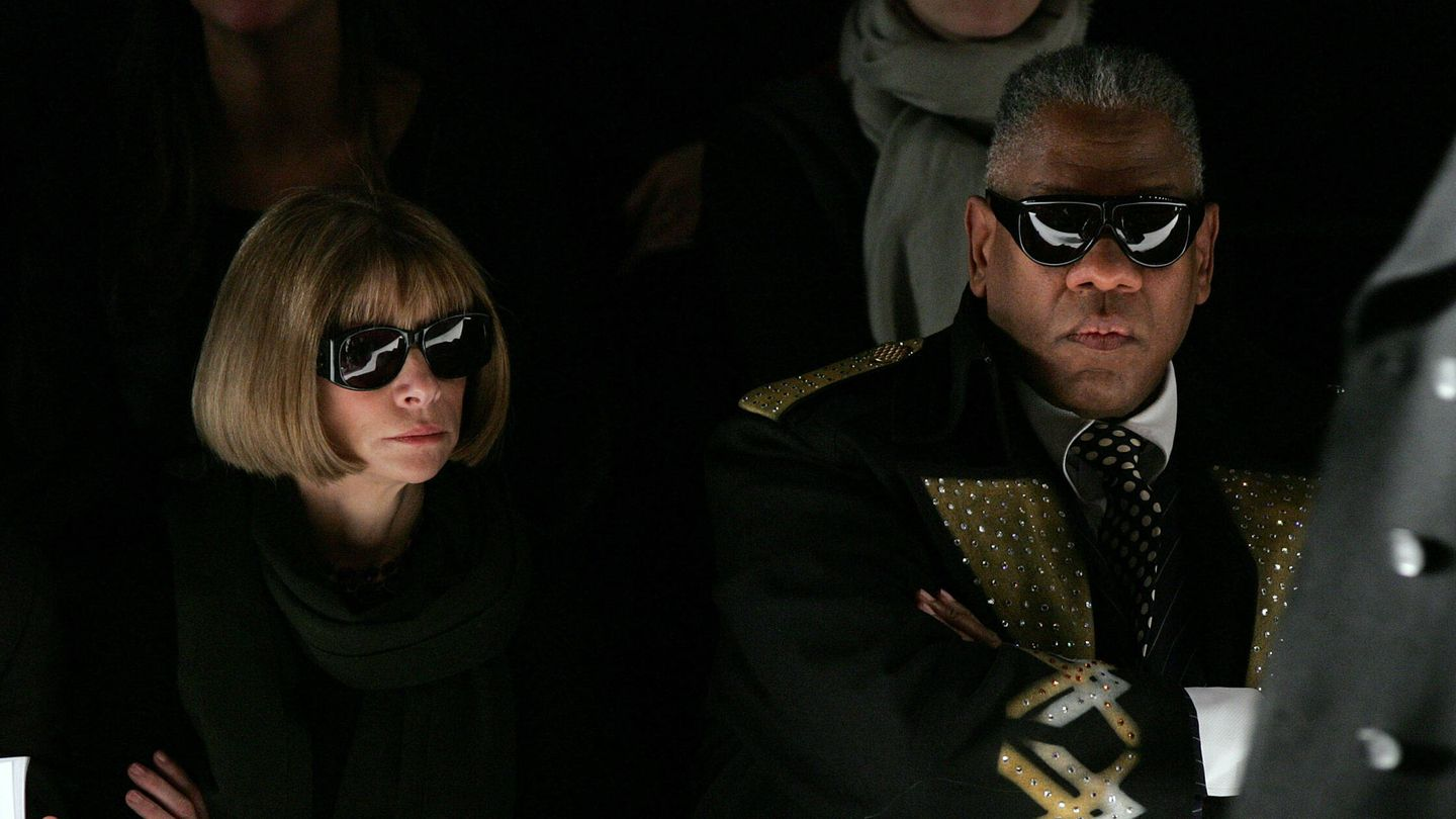 Anna Wintour y Andre Leon Tally. (Getty)