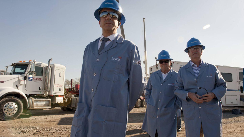 Patxi López, en su visita a Devon Energy a finales de 2011 (Gobierno Vasco)