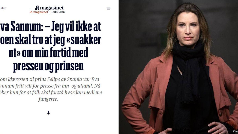 Eva Sannum, en su primera y única entrevista.