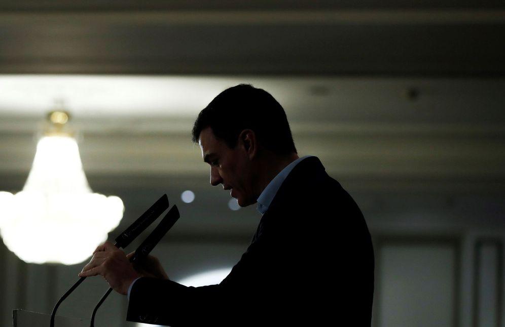 Foto: Pedro Sánchez, este 20 de marzo en un desayuno informativo en el hotel Palace de Madrid. (EFE)