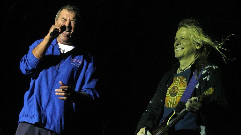 Foto: Ian Gillan y el actual guitarrista, Steve Morse, de Deep Purple.