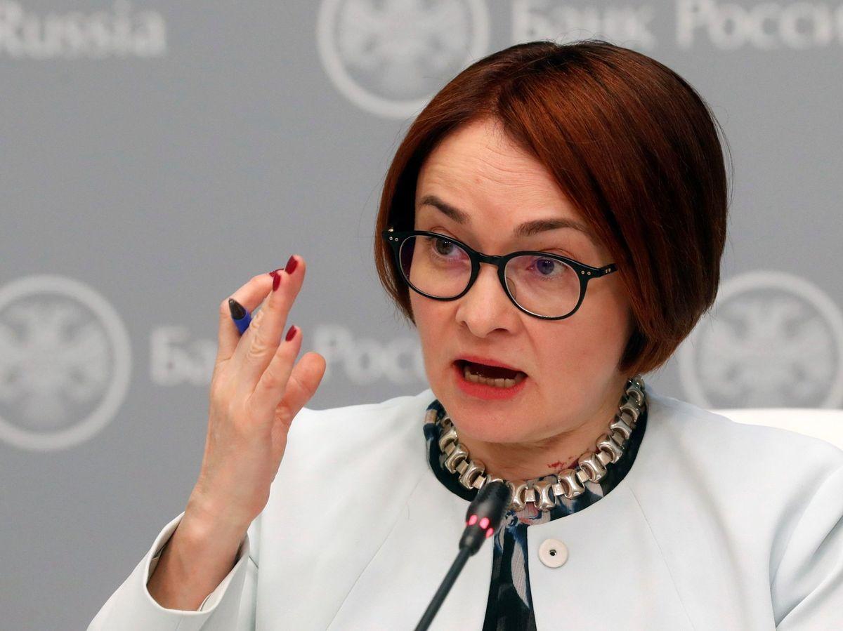 Foto:  La responsable del Banco Central Ruso, Elvira Nabiulina (EFE)