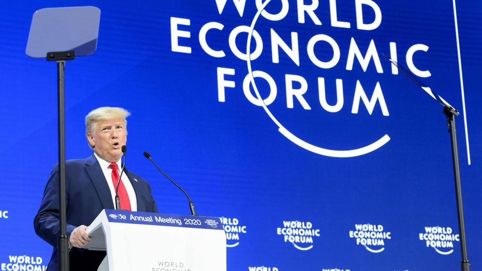 Trump presume en Davos del acuerdo con China y de la economía de EEUU