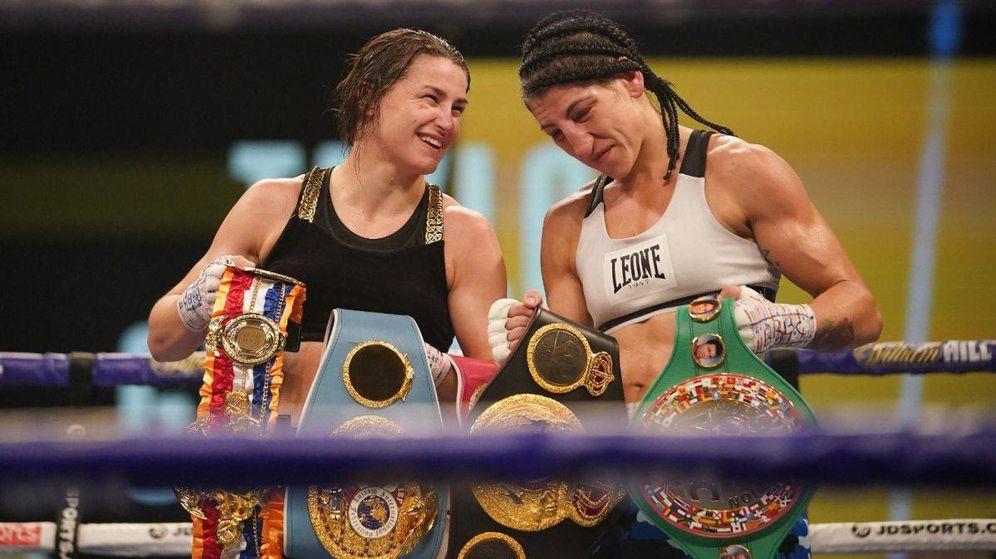 Foto: Taylor y Gutiérrez, tras la pelea.