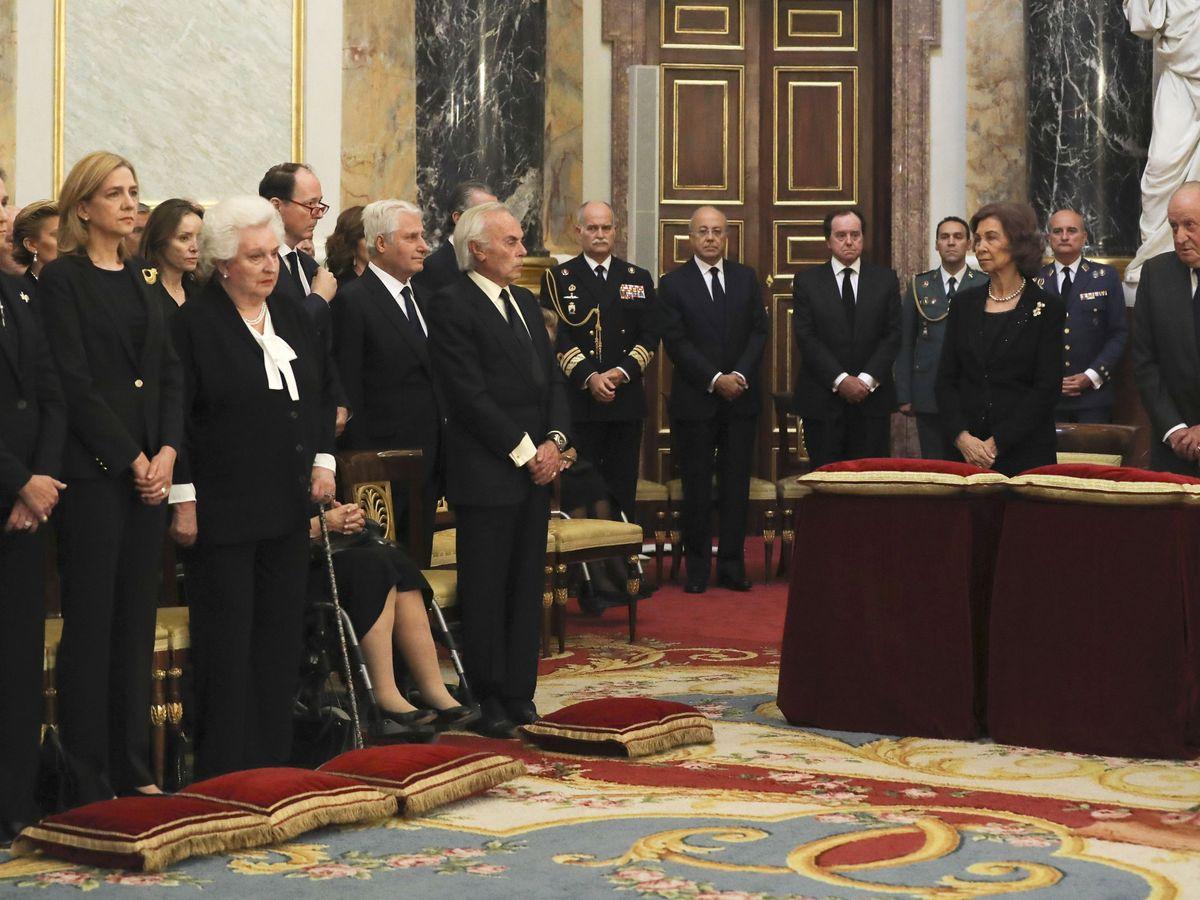 Foto: Funeral por la infanta Alicia de Borbón-Parma. (EFE)
