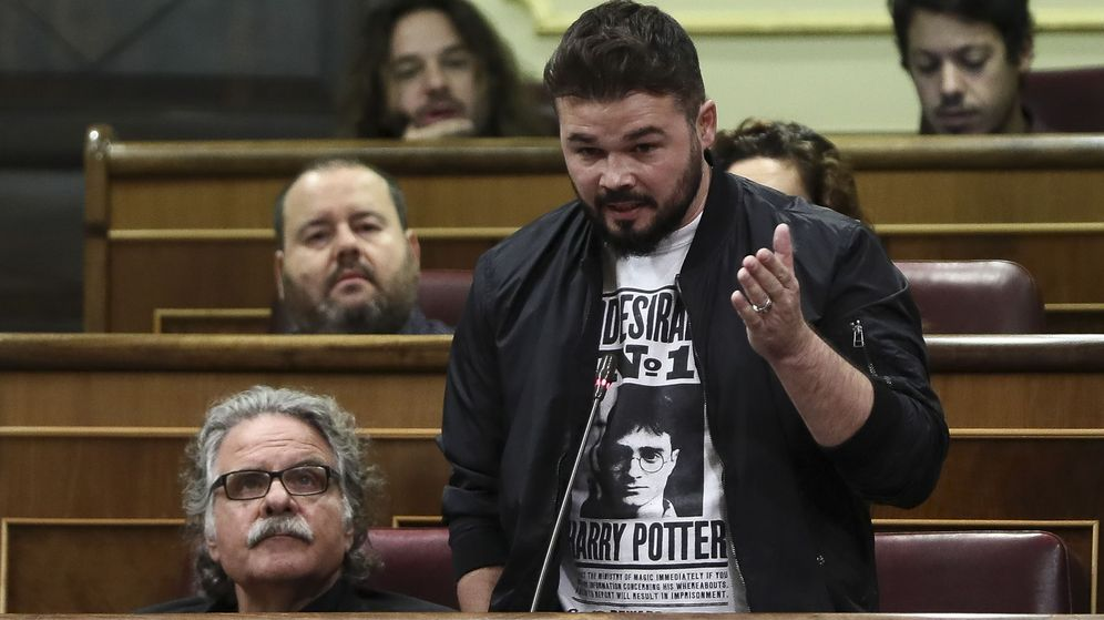 Foto: El portavoz de ERC en el Congreso Gabriel Rufián. (EFE)