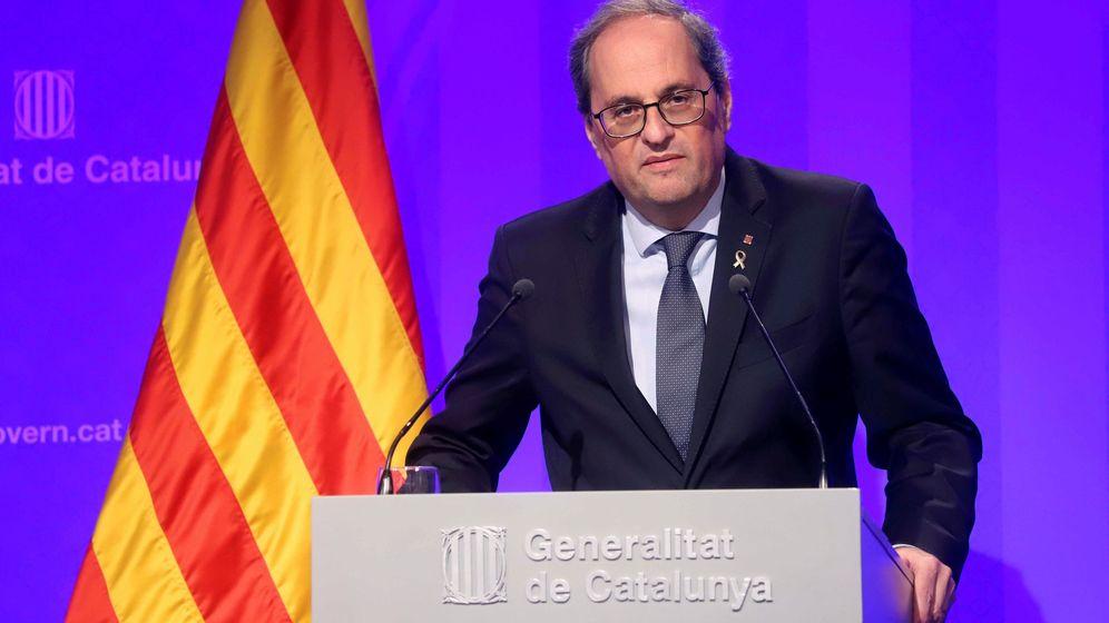 Foto: El presidente de la Generalitat, Quim Torra, en una comparecencia. (EFE)