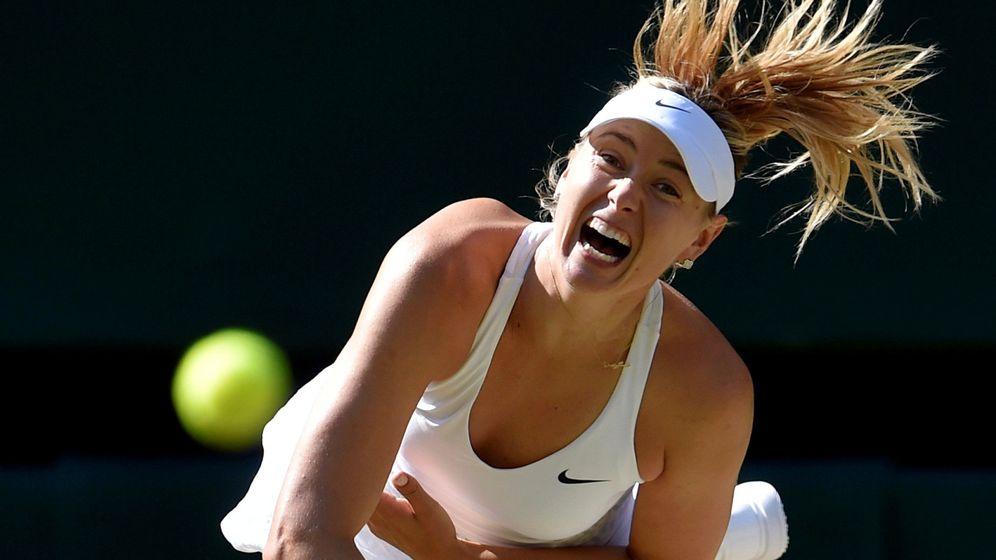 Foto: Maria Sharapova durante un partido en Wimbledon (REUTERS)