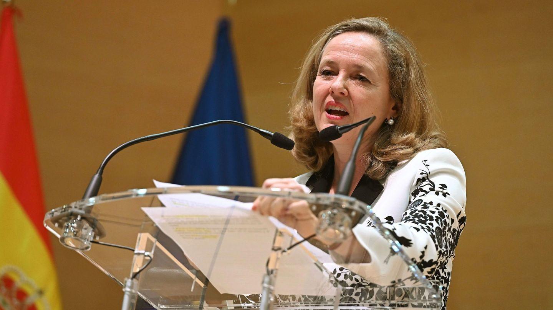 La ministra de Economía, Nadia Calviño, tras jurar su cargo. (EFE)