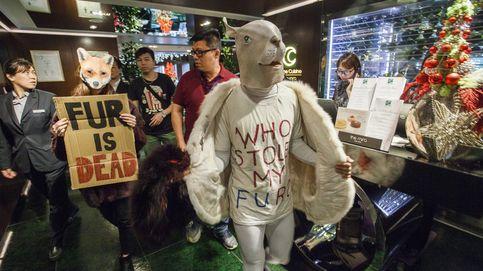 Protesta contra el uso de pieles en hong kong