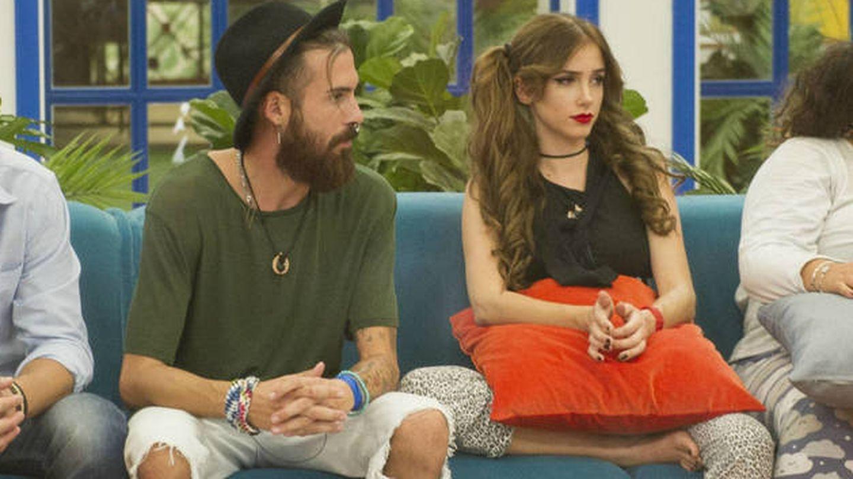 José María López y Carlota Prado en la casa de 'GH'. (Mediaset España)