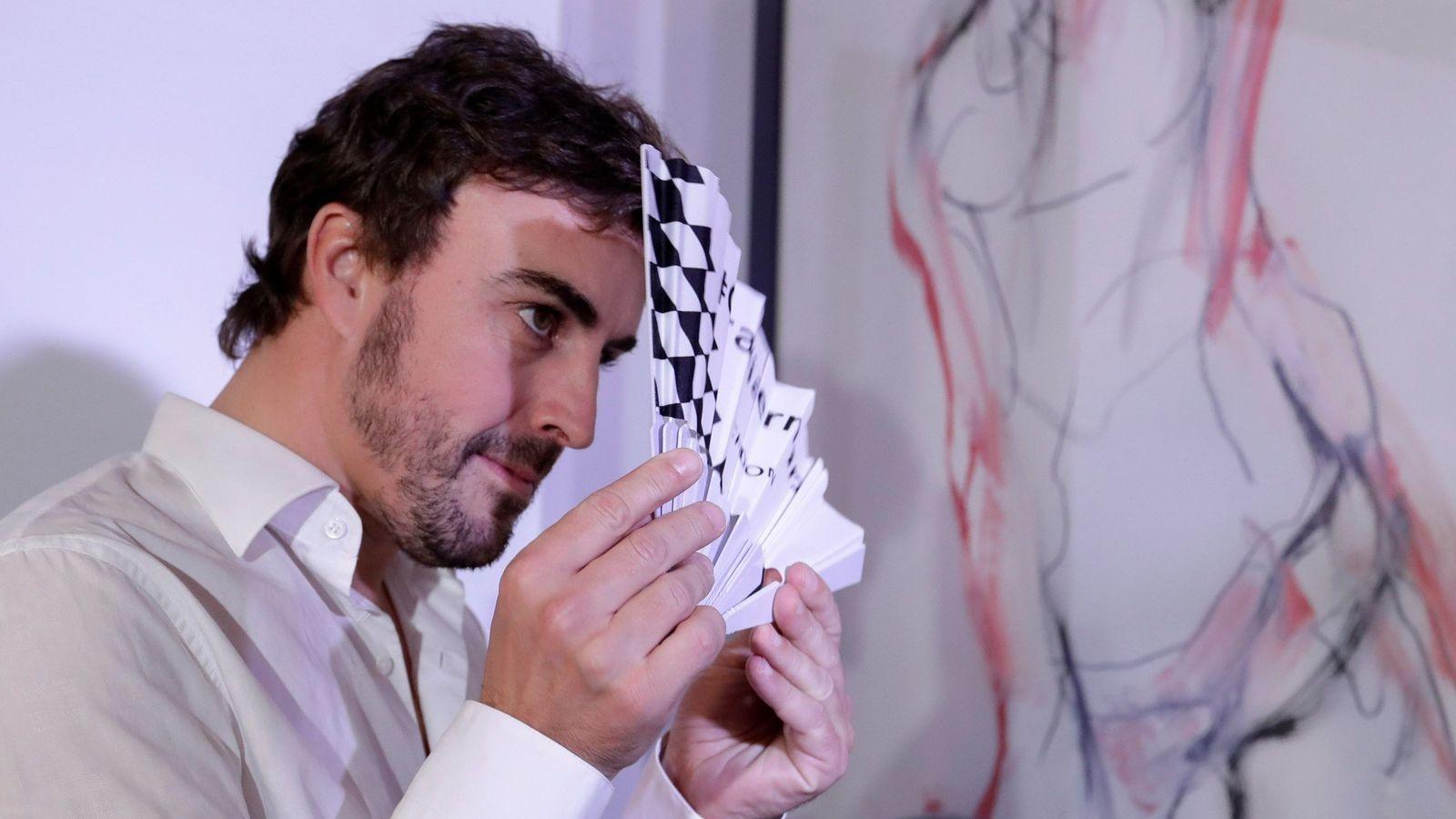 Foto: Fernando Alonso, en un acto promocional. (EFE)