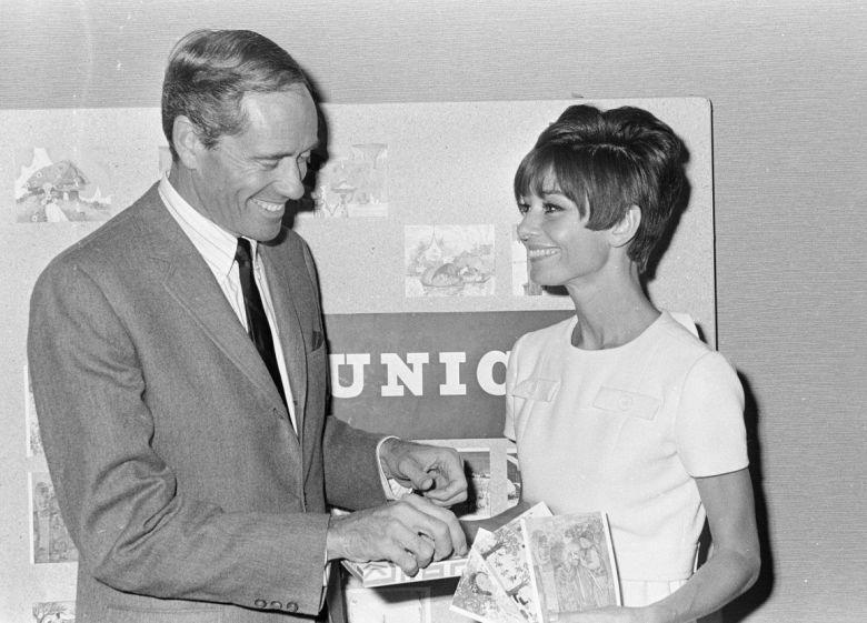 Audrey Hepburn y Mel Ferrer en Holanda.