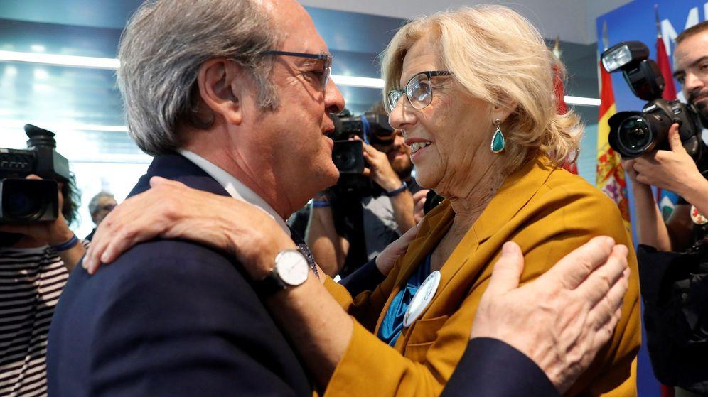 Foto: La alcaldesa de Madrid, Manuela Carmena, y el candidato a la presidencia de la Comunidad de Madrid, Ángel Gabilondo. (EFE)