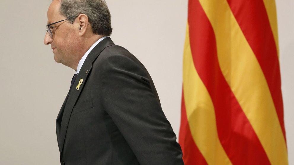 Torra se conecta con Puigdemont por videoconferencia cada lunes desde el Palau