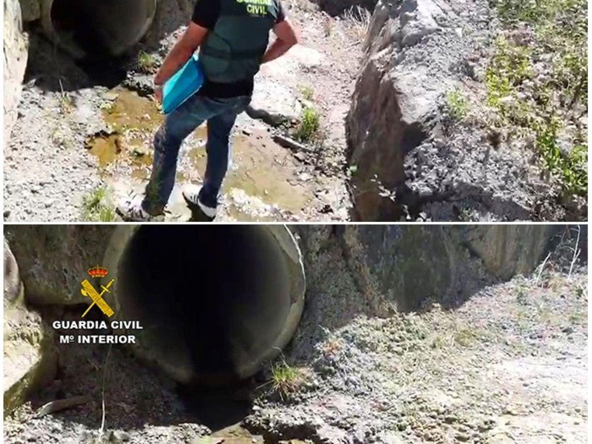 Foto: Cuatro investigados por el vertido de amoniaco al río Oria (Guardia Civil)
