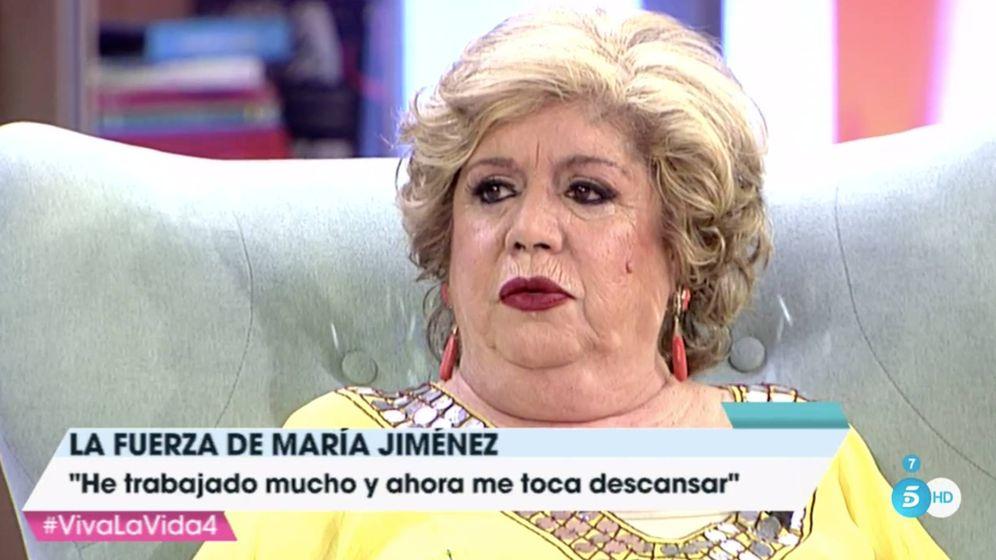 Foto:  María Jiménez en 'Viva la vida'